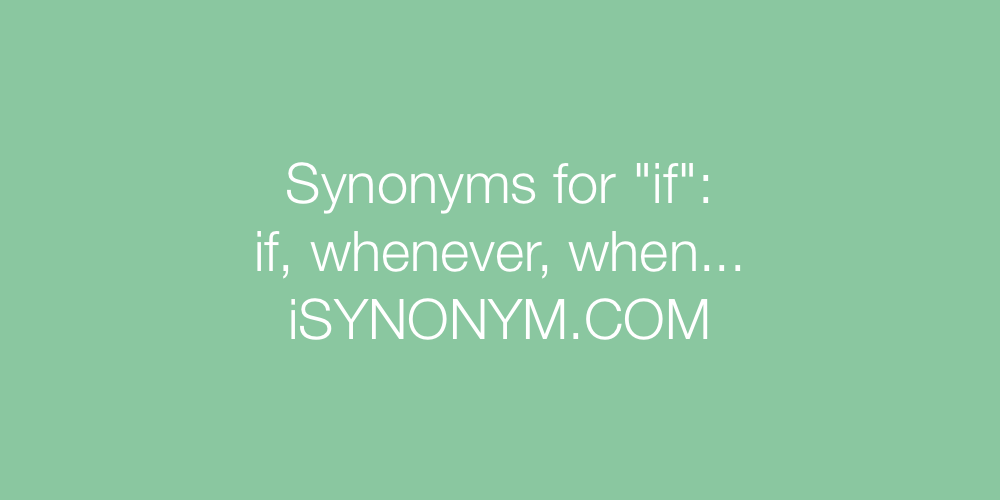 Synonyms if