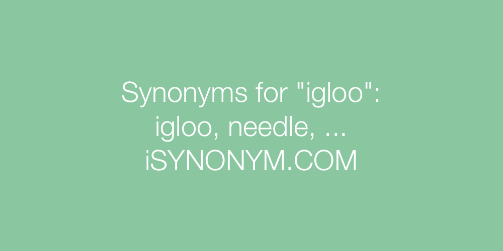 Synonyms igloo