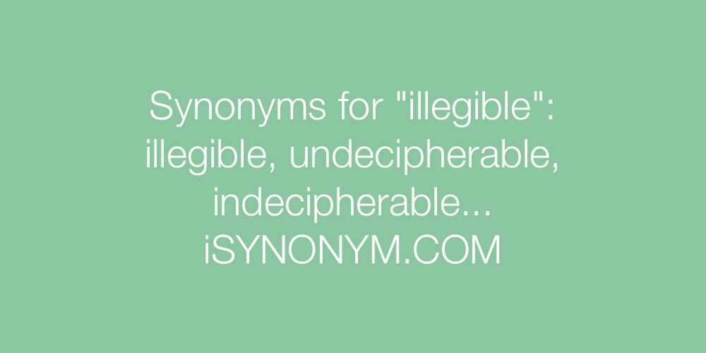 Synonyms illegible