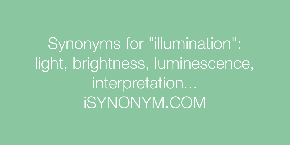 Synonyms illumination