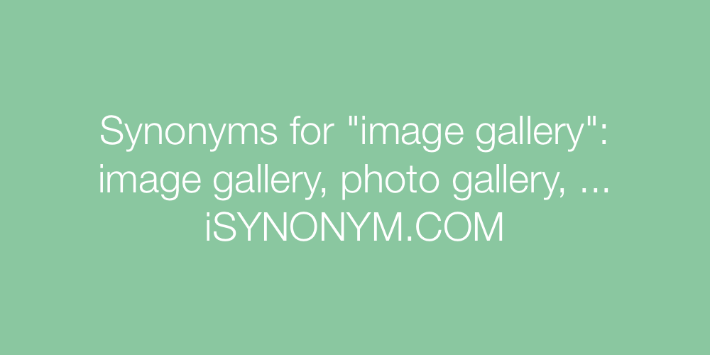 Synonyms image gallery