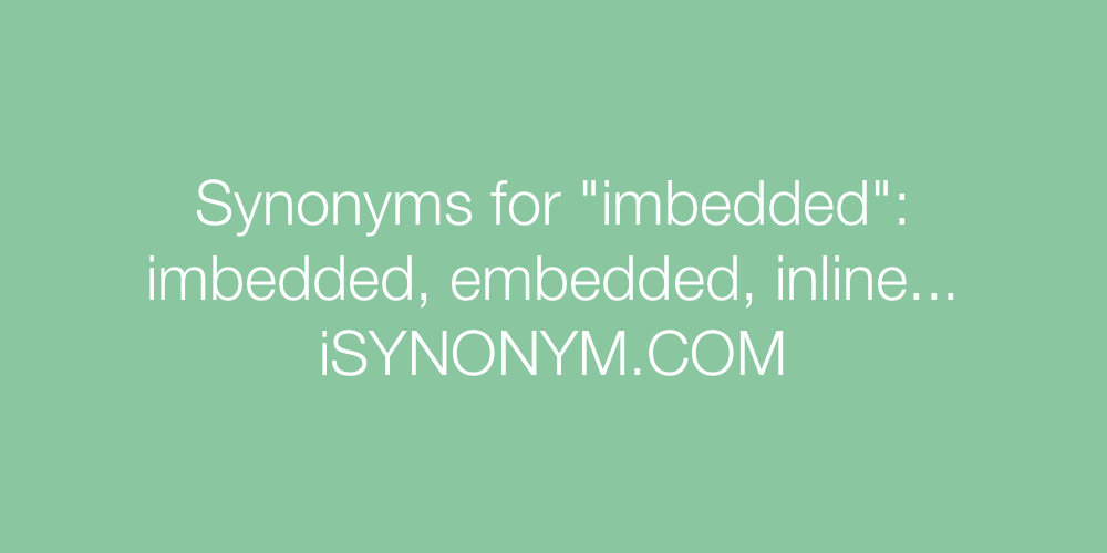 Synonyms imbedded