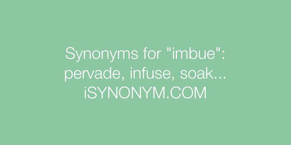 Synonyms imbue
