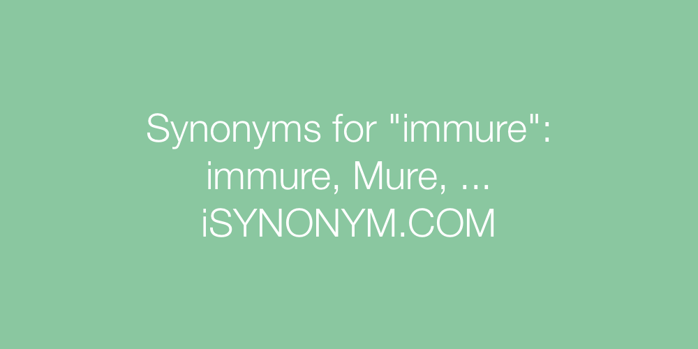 Synonyms immure