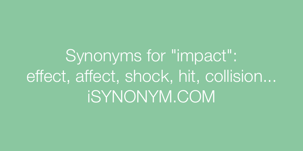 Synonyms impact