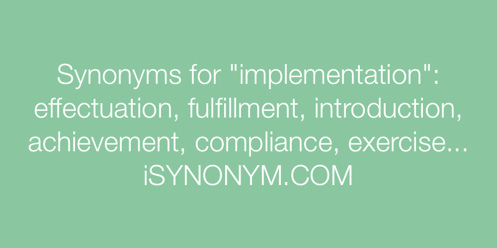 Synonyms implementation
