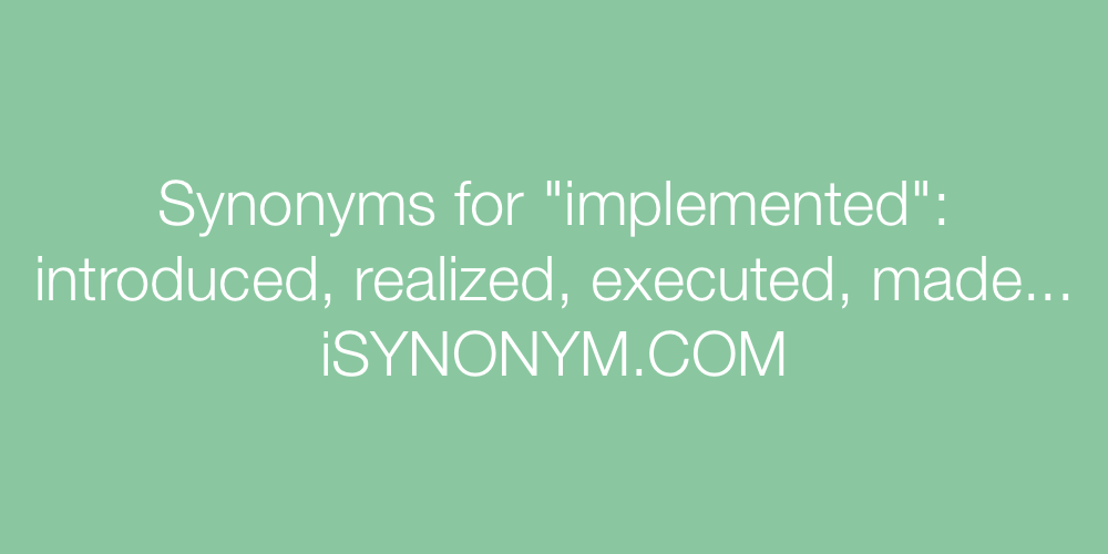 Synonyms implemented