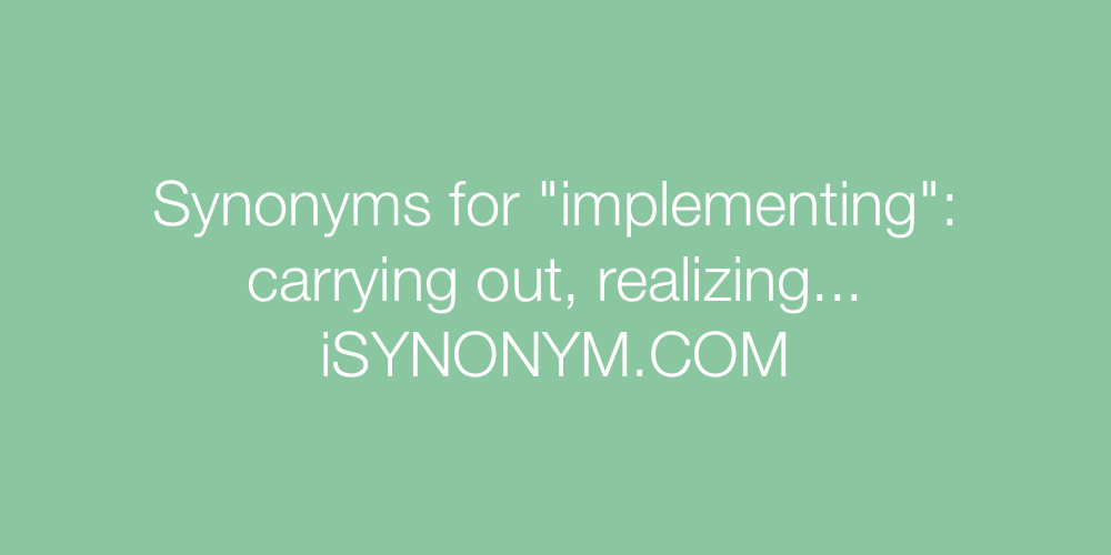 Synonyms implementing