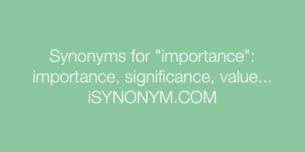 Synonyms importance