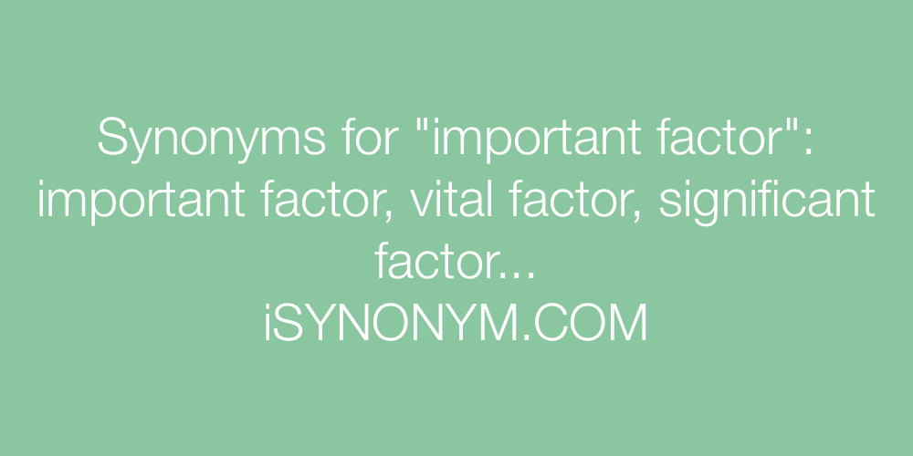 Synonyms important factor