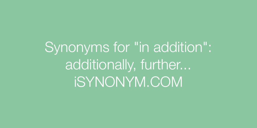 Synonyms in addition
