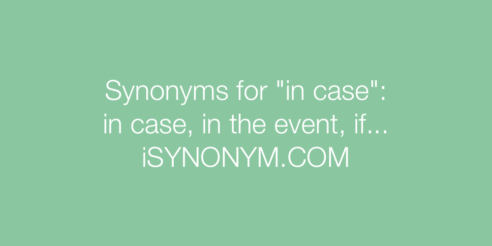 Synonyms in case
