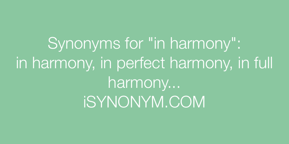 Synonyms in harmony
