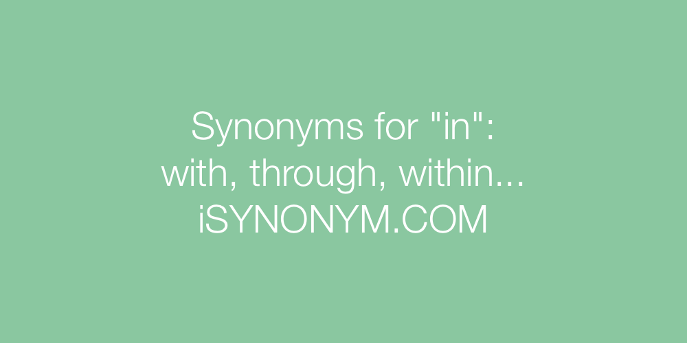 Synonyms in