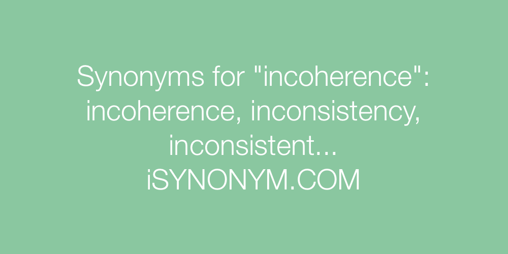 Synonyms incoherence