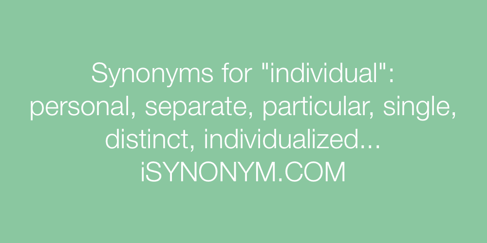Synonyms individual