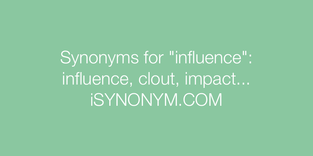 Synonyms influence