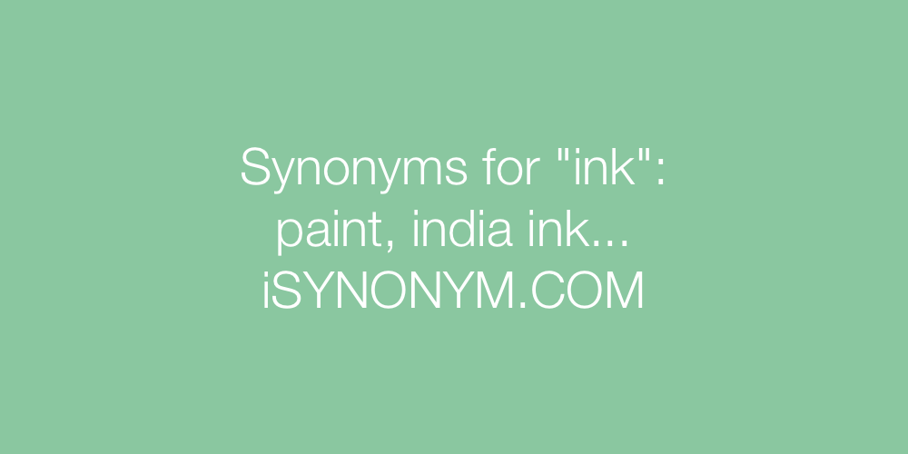 Synonyms ink