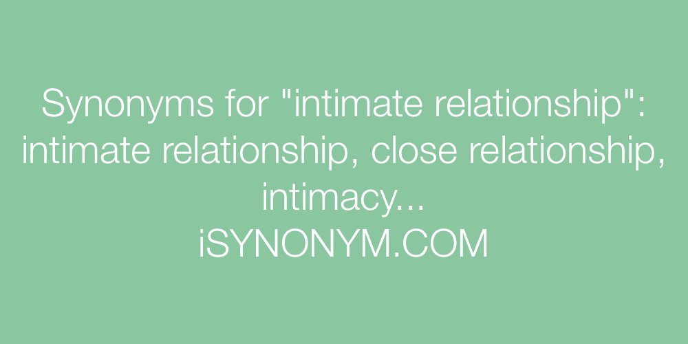 Synonym of intimacy or sex