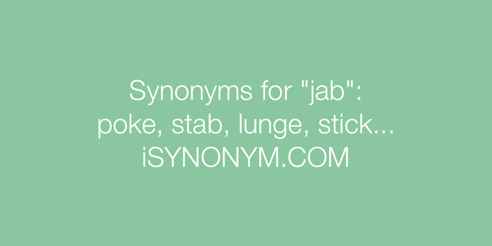 Synonyms jab