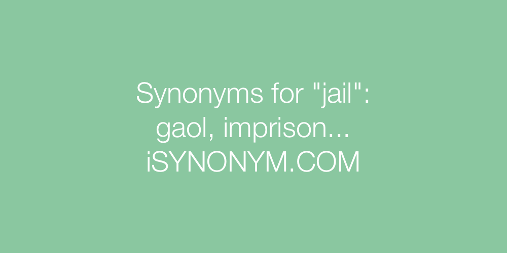 Synonyms jail
