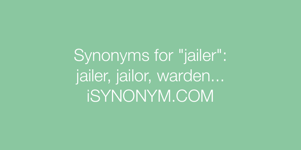 Synonyms jailer