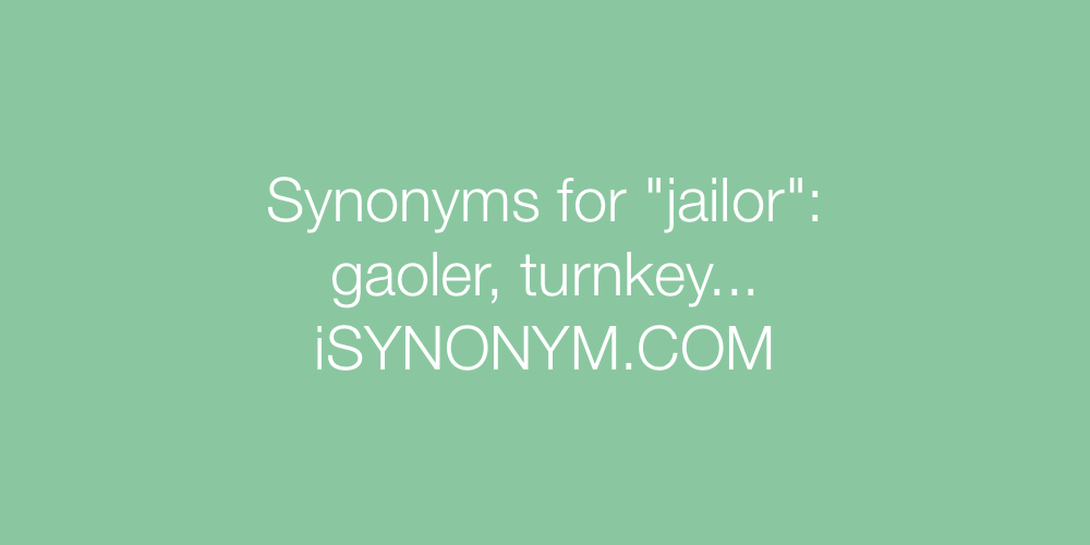 Synonyms jailor