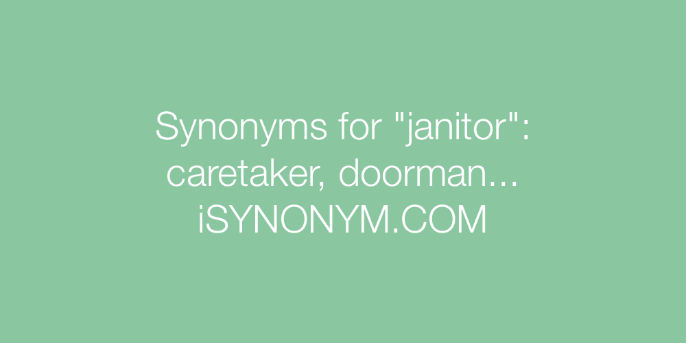 Synonyms janitor
