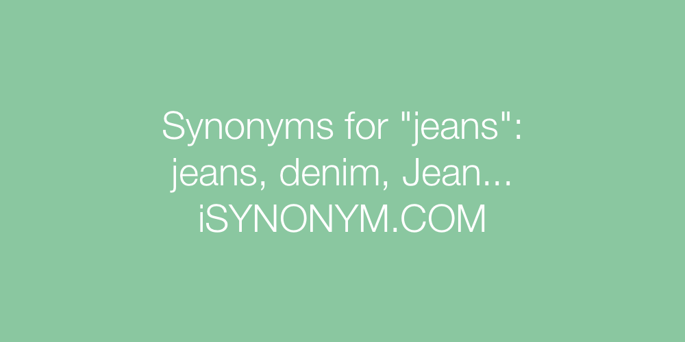 Synonyms jeans