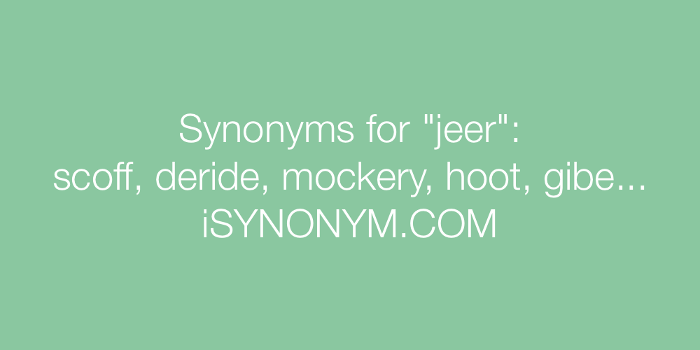 Synonyms jeer