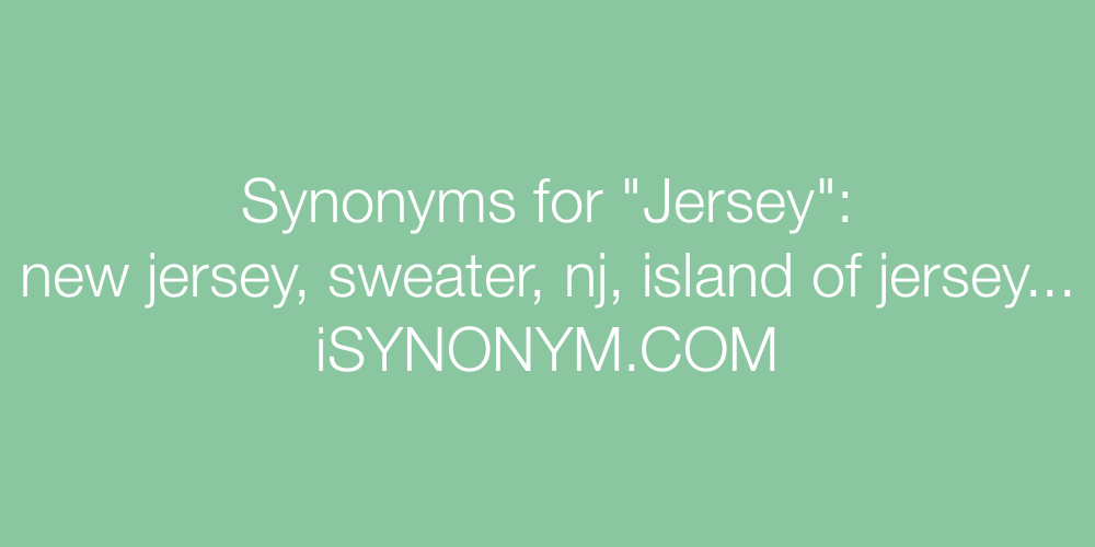Synonyms Jersey