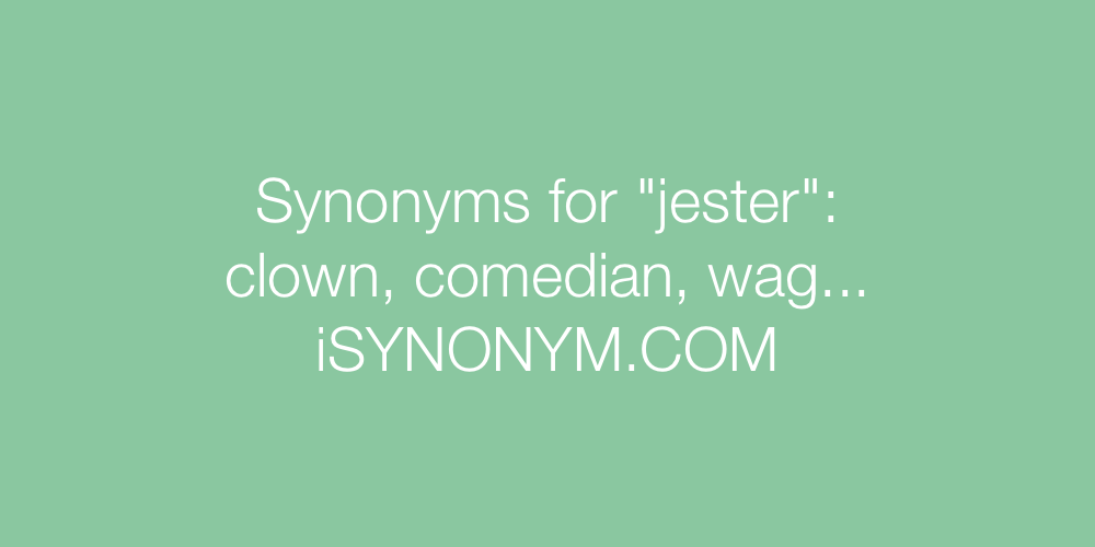 Synonyms jester