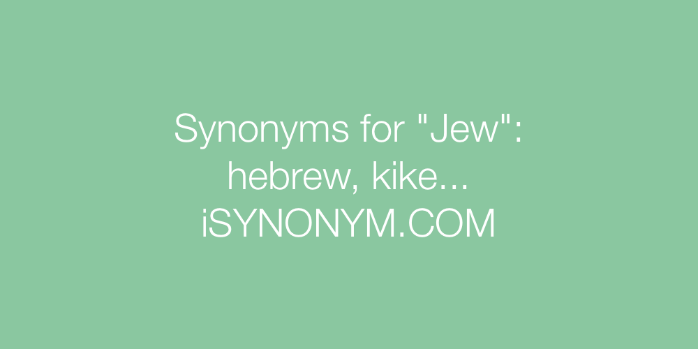 Synonyms Jew