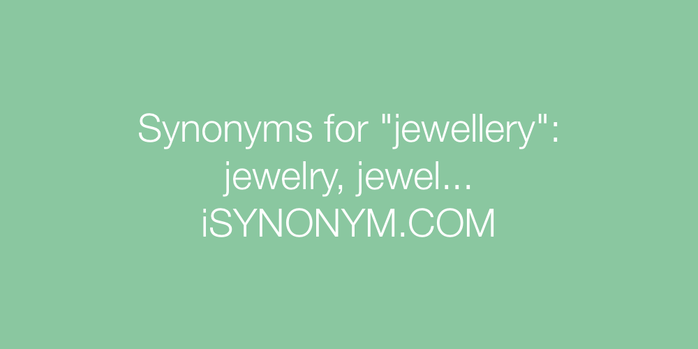 Synonyms jewellery