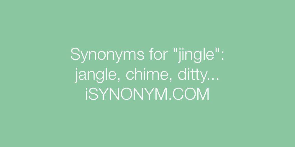 Synonyms jingle