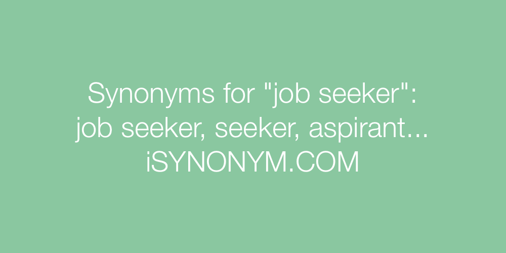 Synonyms job seeker