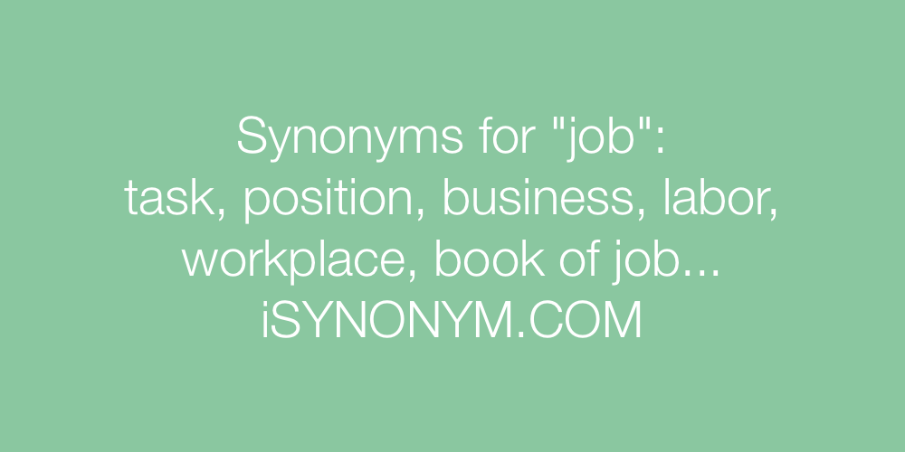 Synonyms job