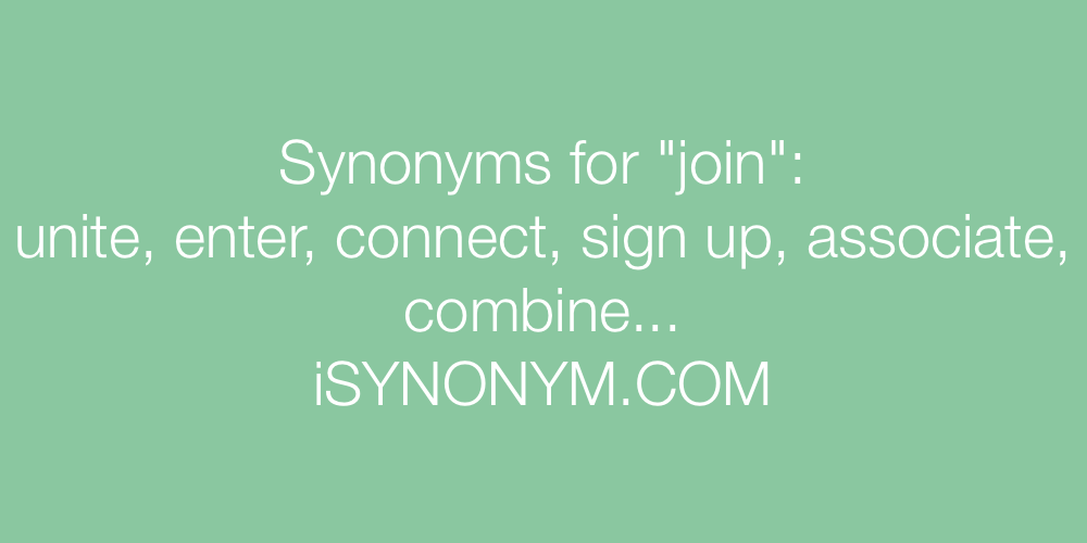 Synonyms join