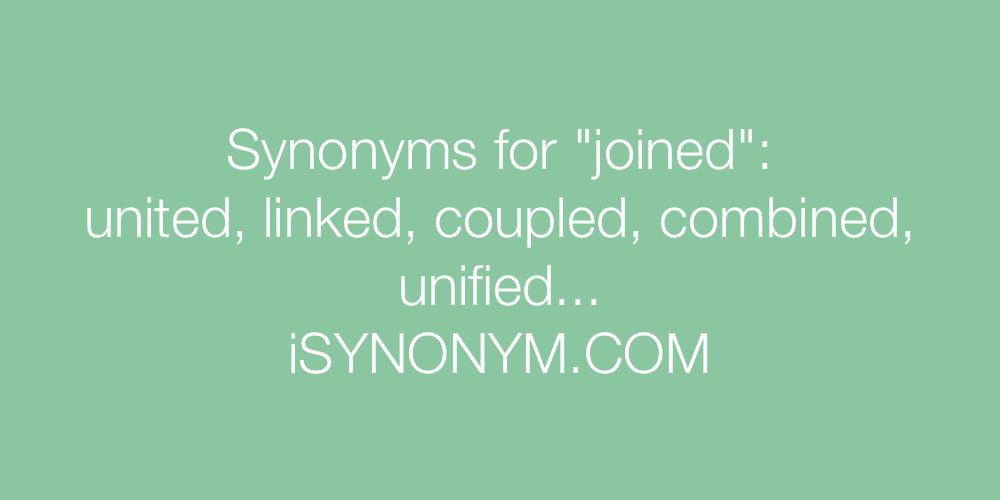 Synonyms joined