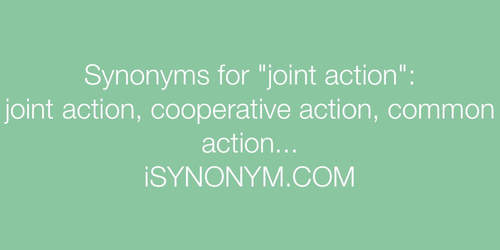 Synonyms joint action