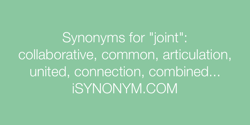 Synonyms joint