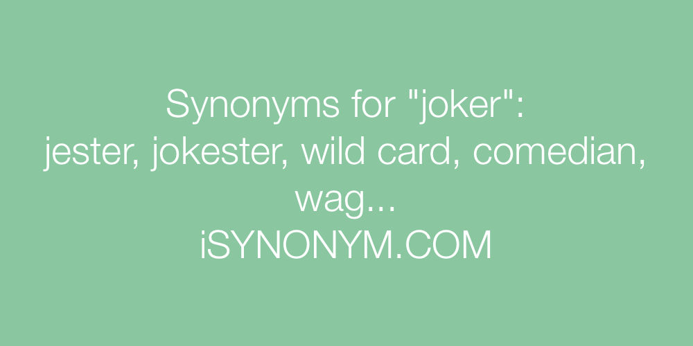 Synonyms joker