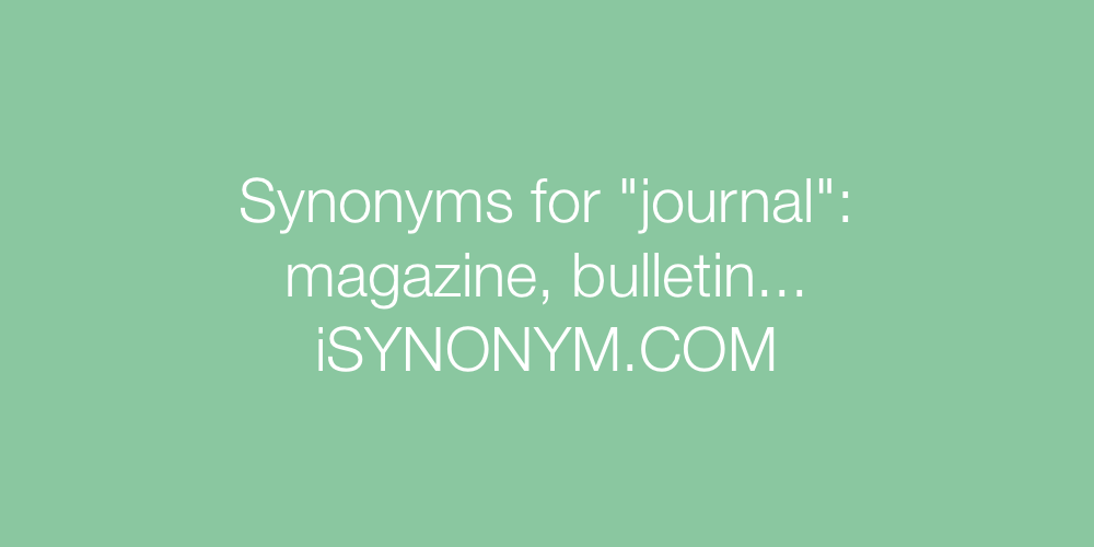 Synonyms journal