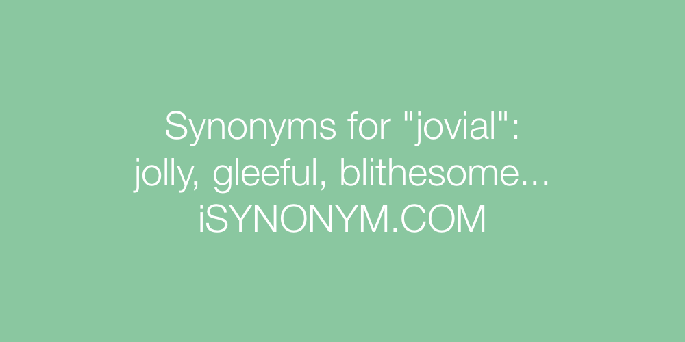 Synonyms jovial