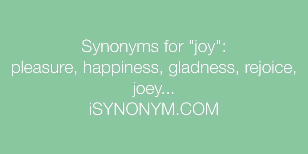 Synonyms joy