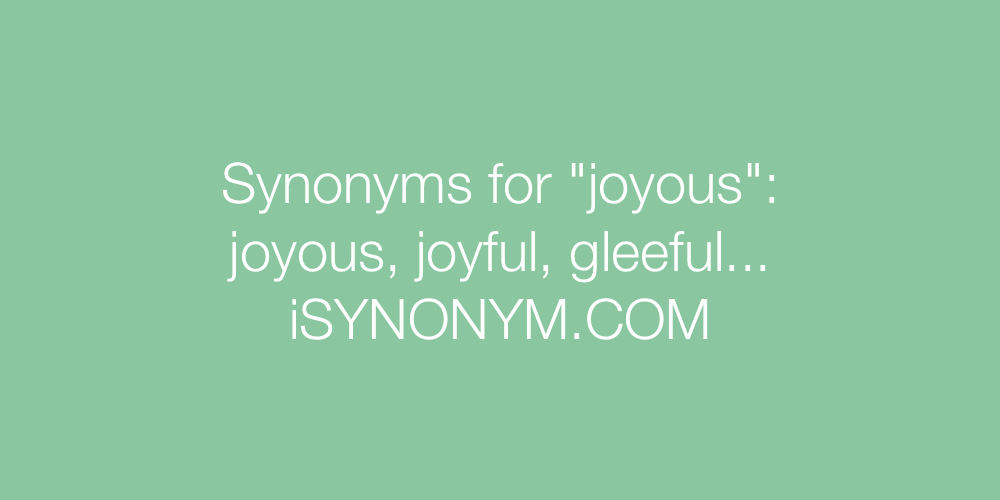 Synonyms joyous