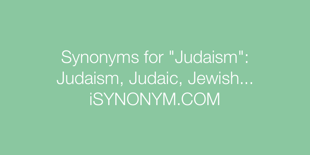 Synonyms Judaism