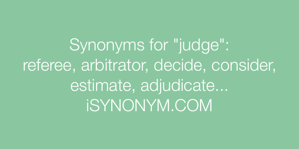 Synonyms judge