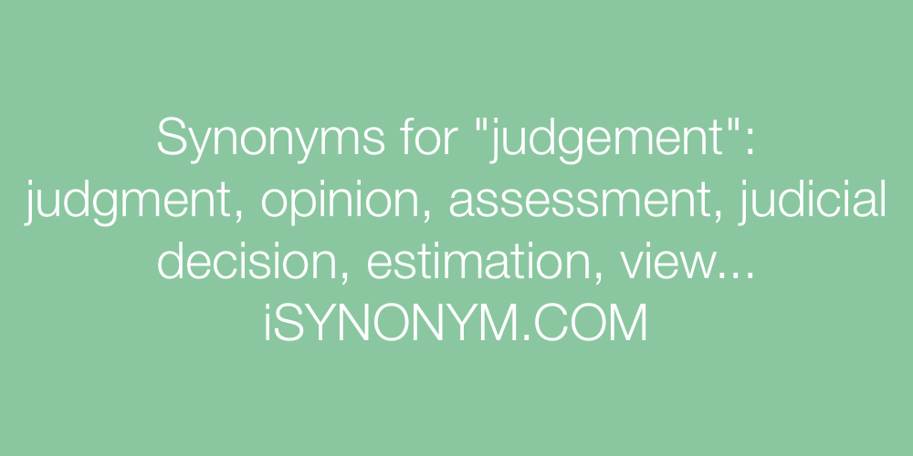 Synonyms judgement