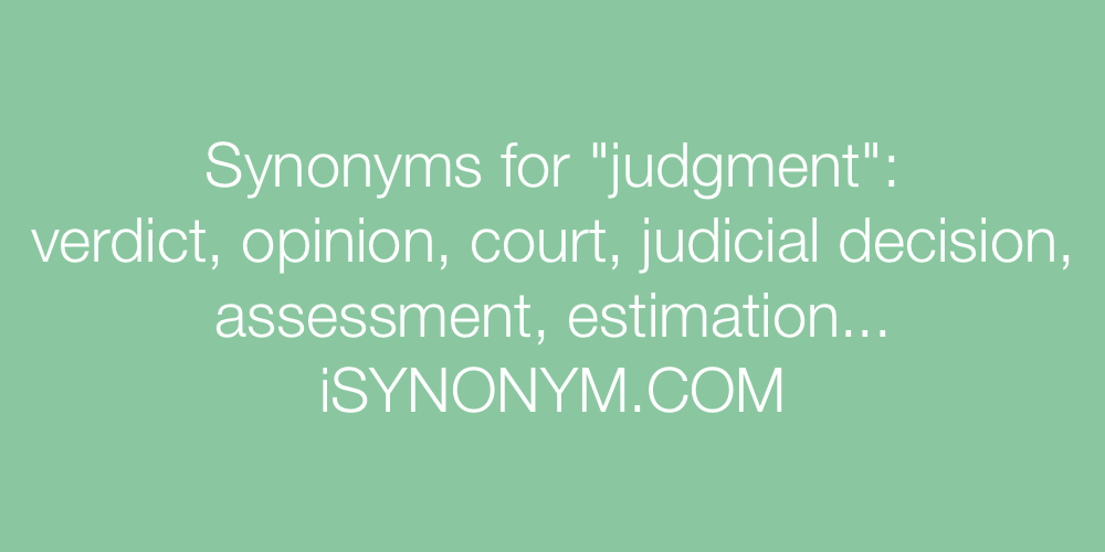 Synonyms judgment